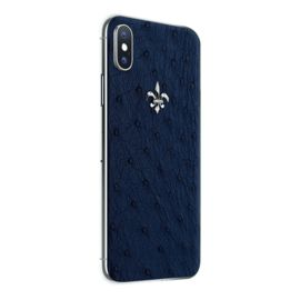 Iphone X in the exclusive «Ostrich Exotic Edition» case