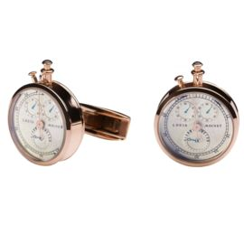 Запонки «Stopwatch» (pink gold plated) от TF Est. 1968