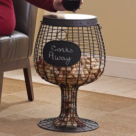 "Original wine table ""Cork Catcher"" by Wine Enthusiast"